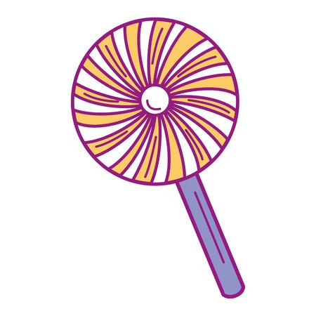 Sweet lollipop isolated icon vector illustration design Çizim