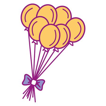 パーティー風船お祝いアイコン ベクトル イラスト デザイン  イラスト・ベクター素材