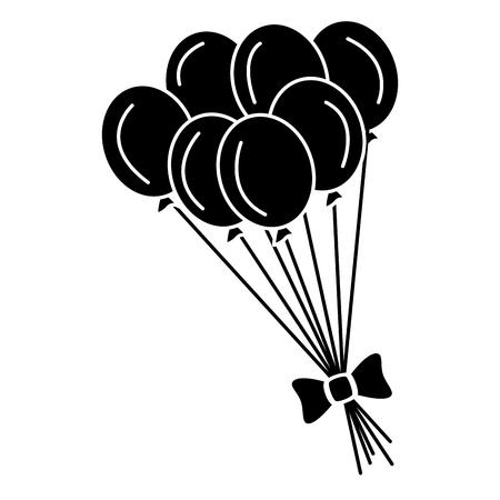 party balloons celebration icon vector illustration design