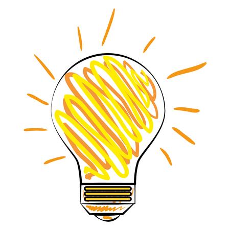 bulb light with rays vector illustration design