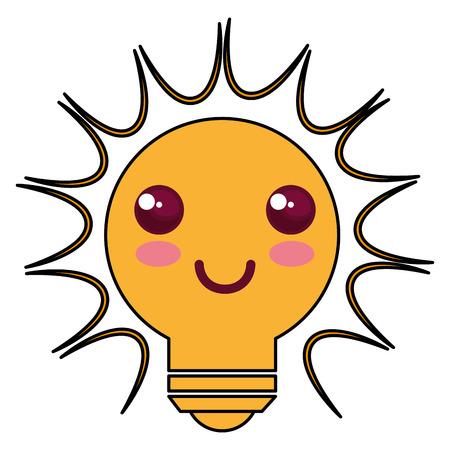 bulb light character vector illustration design