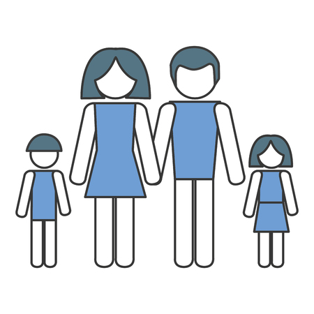 family silhouette isolated icon vector illustration design