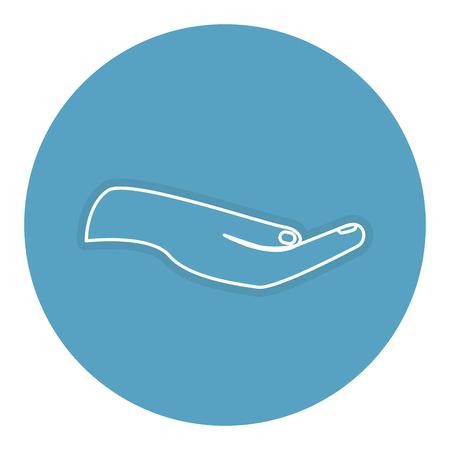 손 인간의 요구 아이콘 벡터 일러스트 레이 션 디자인 일러스트