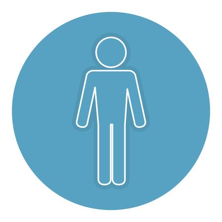 Hombre silueta icono aislado diseño de la ilustración vectorial Foto de archivo - 82990565