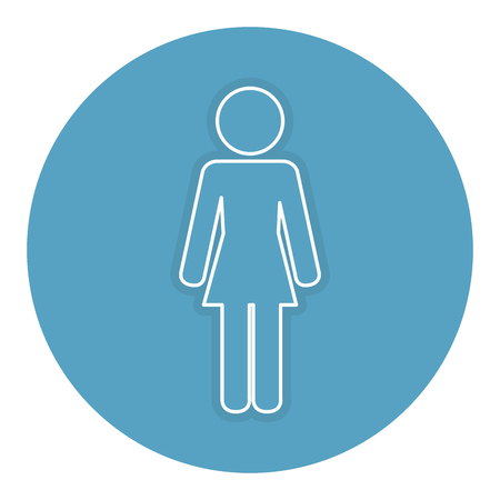 woman silhouette isolated icon vector illustration design Stock Illustratie