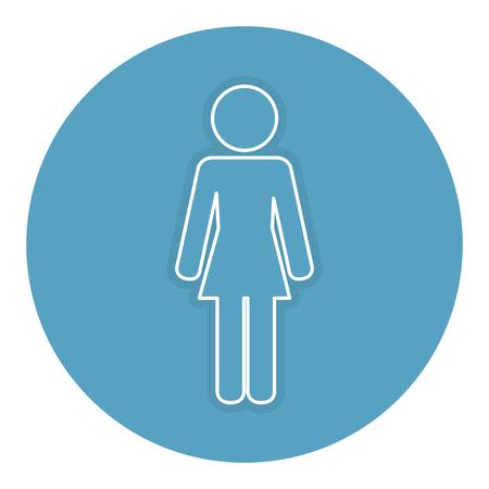 Vrouw silhouet geïsoleerd pictogram vector illustratie ontwerp Stock Illustratie