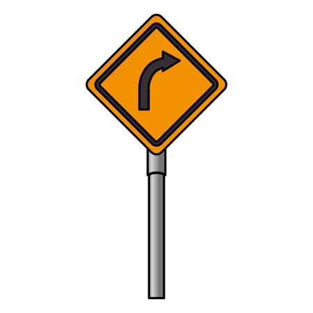 traffic signal turn the right vector illustration design