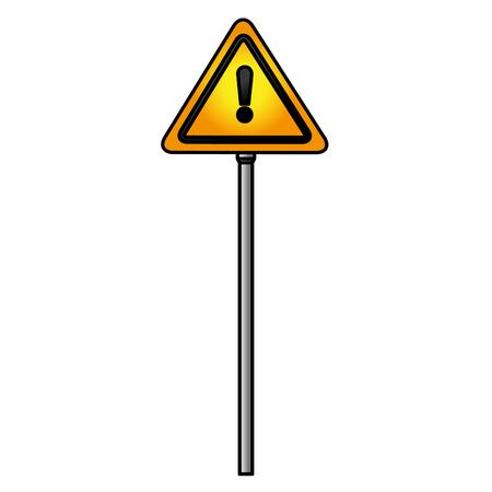 traffic signal alert symbol vector illustration design Ilustrace