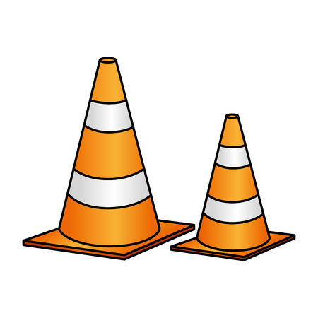construction cone isolated icon vector illustration design Иллюстрация