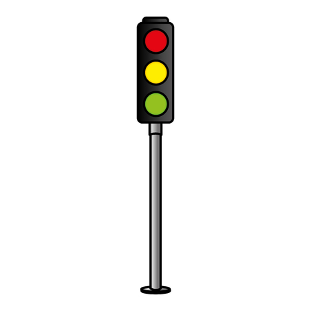 traffic light sign icon vector illustration design Иллюстрация