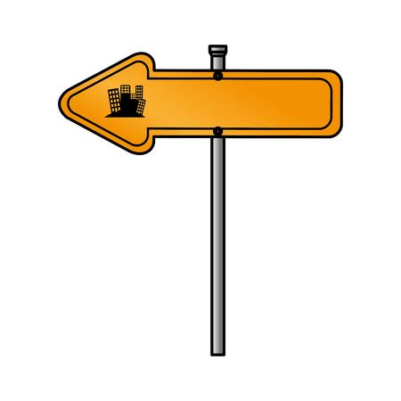 traffic signal arrow guide vector illustration design Ilustrace