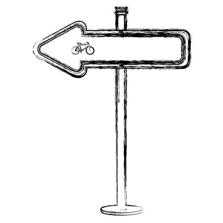 traffic signal Bicycle path vector illustration design Ilustração