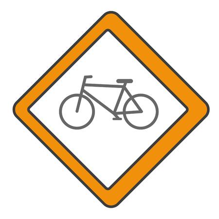 traffic signal Bicycle path vector illustration design Çizim