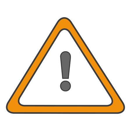 guidepost: traffic signal alert symbol vector illustration design Illustration