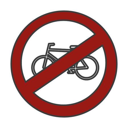 交通信号ベクトル イラスト デザインを禁じられて自転車