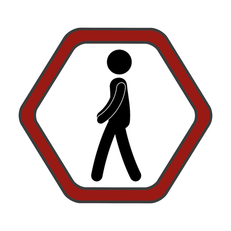 traffic signal Pedestrians on the road vector illustration design