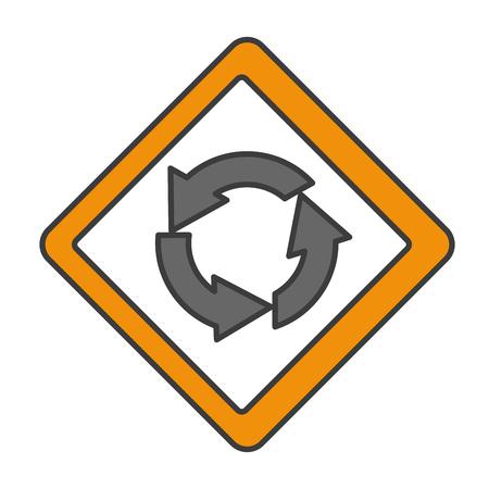 traffic signal round point vector illustration design