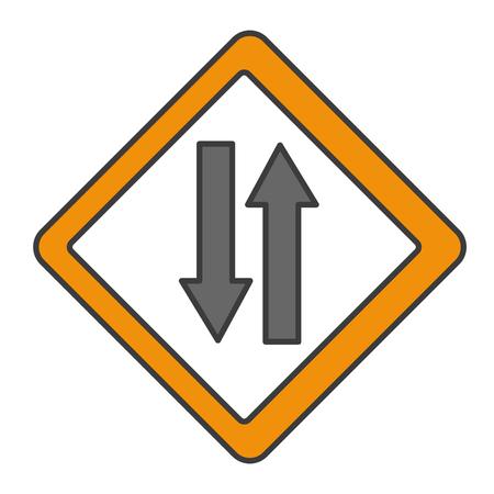 traffic signal double via vector illustration design Çizim