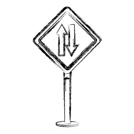traffic signal double via vector illustration design Reklamní fotografie