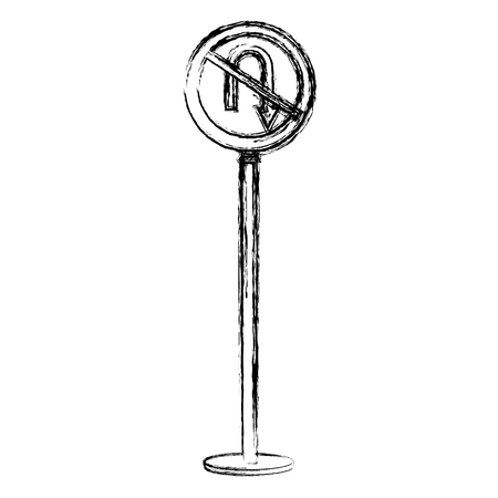 traffic signal U-turn prohibited vector illustration design Illustration