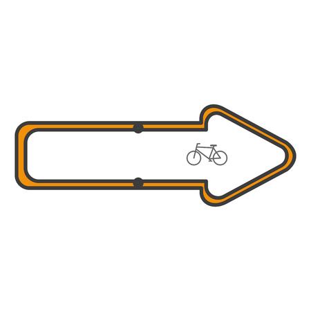 traffic signal Bicycle path vector illustration design Ilustrace