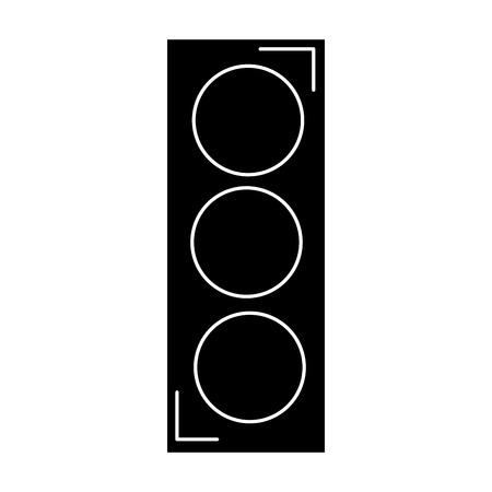 traffic light sign icon vector illustration design Stock Photo
