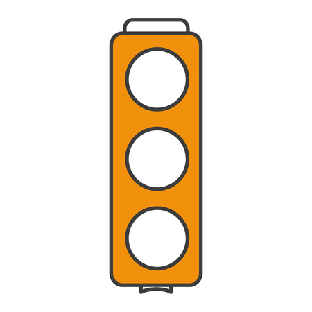 traffic light sign icon vector illustration design Stock fotó