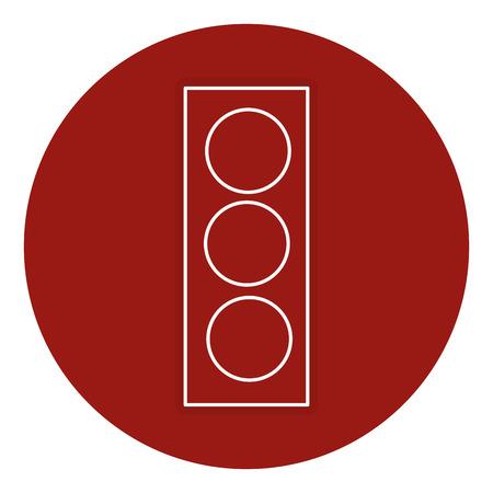 traffic light sign icon vector illustration design Illustration