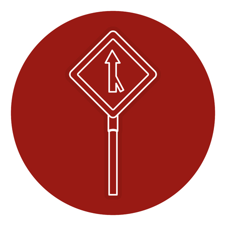 traffic signal one way vector illustration design