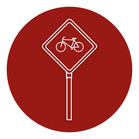 traffic signal Bicycle path vector illustration design Illustration