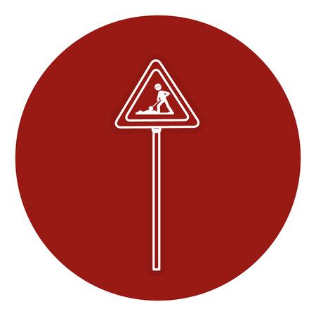 traffic signal Road under construction vector illustration design Illustration