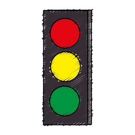 traffic light sign icon vector illustration design 向量圖像