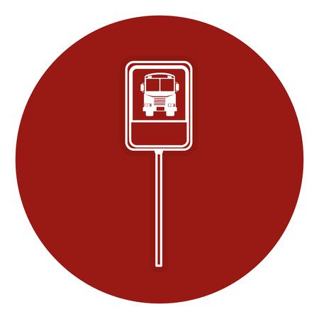 traffic signal bus stop vector illustration design