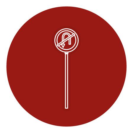 traffic signal U-turn prohibited vector illustration design Ilustrace