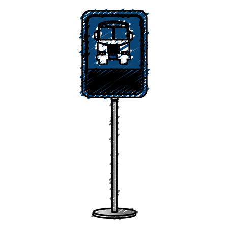 traffic signal bus stop vector illustration design Zdjęcie Seryjne - 83003523