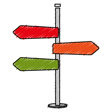 verkeerslichten pijlen pictogram vector illustratie ontwerp Stock Illustratie