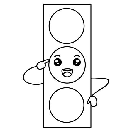 traffic light  character vector illustration design