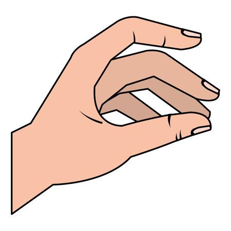 Hand taking isolated icon vector illustration design Illustration