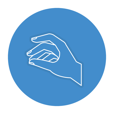 Hand taking isolated icon vector illustration design Фото со стока