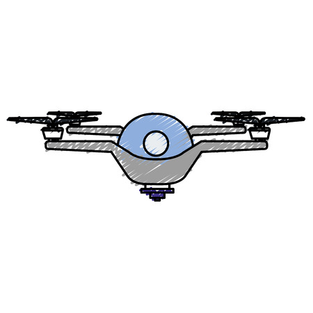 drone flying technology icon vector illustration design