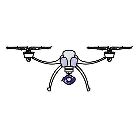 無人爆撃機の飛行技術のアイコン ベクトル イラスト デザイン