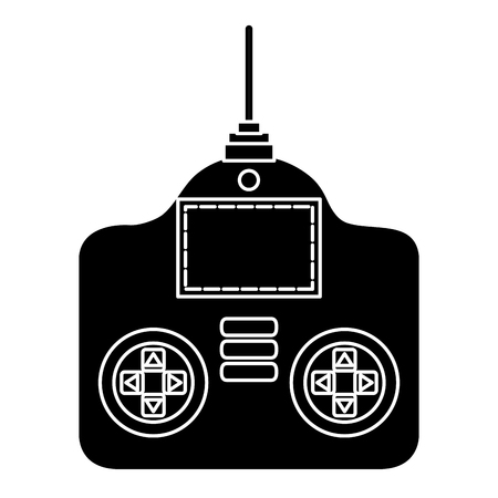 drone remote control icon vector illustration design Illusztráció