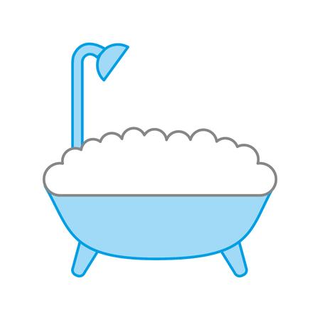 badkuip dienst geïsoleerde pictogram vectorillustratieontwerp