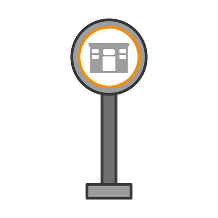 hotel traffic sign isolated icon vector illustration design Ilustração