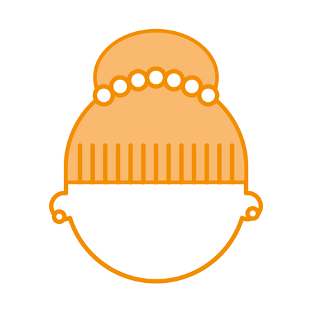 cute woman head character vector illustration design