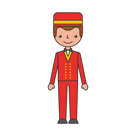 boybell avatar character icon vector illustration design