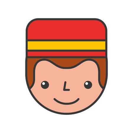 Boybell avatar caractère icône illustration vectorielle design Banque d'images - 83107508