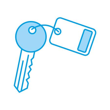 Clé de la porte de la porte icône vecteur illustration de conception Banque d'images - 83132710
