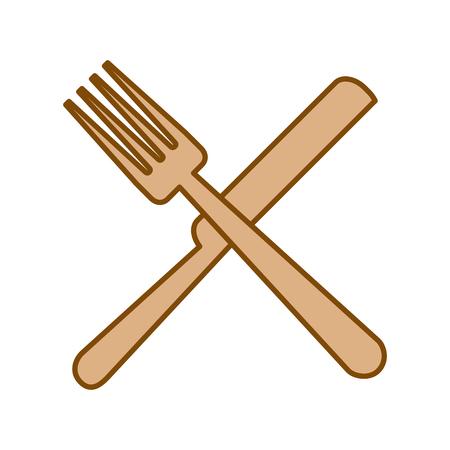 Fourchette et couteau coutellerie vector illustration design Banque d'images - 83132738