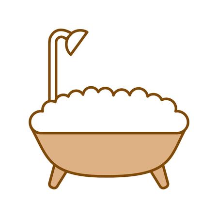 bathtub service isolated icon vector illustration design Ilustração